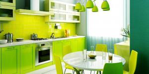 Геометрия на кухне, то есть идея на оригинальную кухню