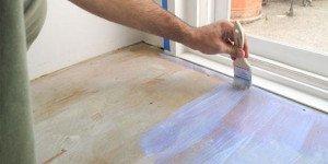 Виды красок для деревянного пола